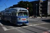 Gray tram