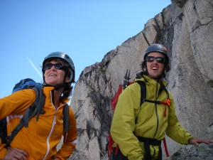 Karen & Brent soak in the view while making our way up the Eastpost Spire. This place is magical.