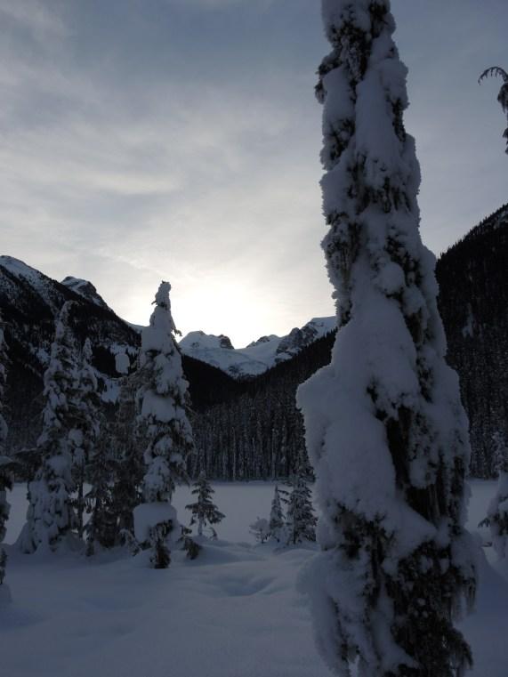 Saturday morning sunrise over Joffre Lakes Provincial Park.