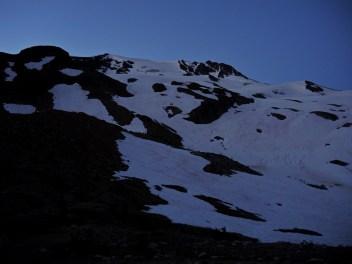 """Alpine start"": up at 4 a.m. and out the door by 5:30 a.m."