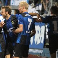 Eintracht Trier gegen Schalke 04 II, Regionalliga West, Torjubel nach dem 1:0, Foto: Anna Lena Bauer - 5VIER