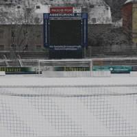 Training Eintracht Trier im Schnee, Moselstadion, Winter im Stadion, Foto: Andreas Maldener - 5VIER
