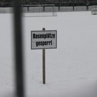 Training Eintracht Trier im Schnee, Moselstadion, Rasen gesperrt, Winter, Foto: Andreas Maldener - 5VIER