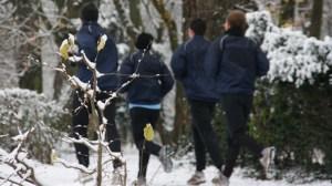 Training Eintracht Trier im Schnee, Moselstadion, Füllbild SVE, Foto: Andreas Maldener - 5VIER