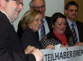 Bernhard Kaster, Kristina Schröder, Berti Adams, Petra Moske, Günther Schartz (von links nach rechts) - 5VIER