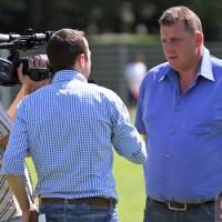 20110627 Trainingsauftakt SVE, Ernst Wilhelmi im 5vier-TV-Interview, Regionalliga West. Foto: Anna Lena Bauer - 5VIER