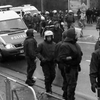 Polizeiaufgebot in Saarbrücken, Foto: Andreas Gniffke - 5VIER