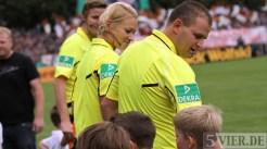 20110730 Eintracht Trier - St. Pauli, DFB Pokal, Bibiana Steinhaus, Schiri, Foto: Anna Lena Bauer - 5VIER