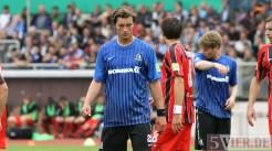 20110730 Eintracht Trier - St. Pauli, DFB Pokal, Stange, Foto: Anna Lena Bauer - 5VIER