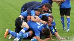 20110730 Eintracht Trier - St. Pauli, Jubel, DFB Pokal, Foto: Anna Lena Bauer - 5VIER