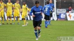 20120425 Pokal Eintracht Trier-TuS Koblenz, Pagenburg, Auswechslung, Bitburger Rheinlandpokal, Viertelfinale, Foto: Anna Lena Grasmueck - 5VIER