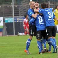 20120425 Pokal Eintracht Trier-TuS Koblenz, Jubel, Kraus, Bitburger Rheinlandpokal, Viertelfinale, Foto: Anna Lena Grasmueck - 5VIER