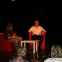 Moderator Dorian Steinhoff und Piet Klocke, Foto: Christian Simon  - 5VIER