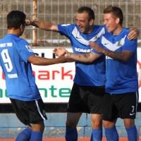 20120810 Eintracht Trier - Mainz II, Jubel, FAZ, Lewerenz, Regionalliga Suedwest, Foto: Anna Lena Grasmueck - 5VIER