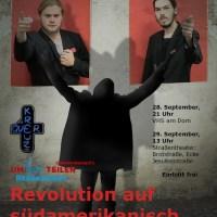 Aufführung der Theatergruppe  Kreuz & Quer  am 28. September 2012. Plakat. - 5VIER