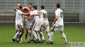20121111 Hoffenheim II - Eintracht Trier, Torjubel Zittlau, Regionalliga Suedwest, Foto: www.5vier.de - 5VIER