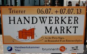 Der 33. Trierer Handwerkermarkt Foto: Monika Pradelok