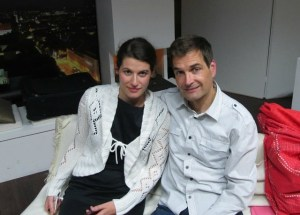 Alexandra Bentz und Kollege Michael Fernbach