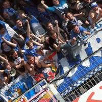 20131019 Mainz II - Eintracht Trier, Jubel Eintracht-Fans, Regionalliga Suedwest, Foto: www.5vier.de - 5VIER