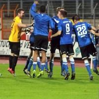 Eintracht Trier feiert nach dem Sieg gegen Frankfurt II, Foto: www.5vier.de - 5VIER
