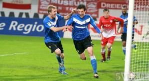 20131101 Offenbach - Eintracht Trier, Tor von Torge Hollmann, Foto: 5vier.de - 5VIER