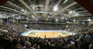 Arena Trier. TBB Trier-FC Bayern. Foto - Thewalt