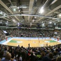 Arena Trier. TBB Trier-FC Bayern. Foto - Thewalt - 5VIER