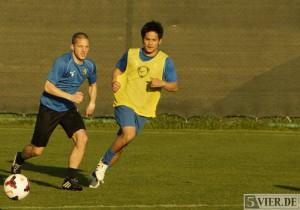 Neuzugang Ken Asaeda (rechts). Foto: Lars Eggers
