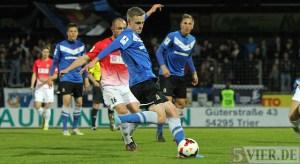 20140321 Eintracht Trier - Wormatia Worms, Regionalliga Suedwest, Lars Bender, Foto: 5vier.de - 5VIER