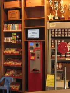 Einer der Bezahlautomaten