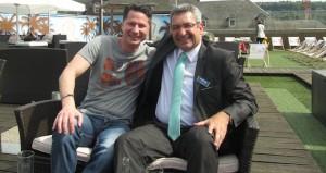 Andy B. Jones (l.) mit Knut Werle