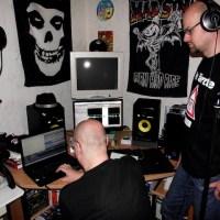 Bernhard Schlax und Alexander Linß im Aufnahmeraum, Foto: Time Shift.