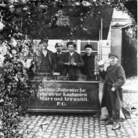 Lambert Hoevel: Maronenverkäufer, Fotografie um 1900. Foto: Stadtmuseum Simeonstift - 5VIER