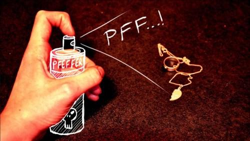 Pfefferspray Text