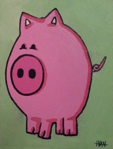 """""""Schweini"""" das rosa Gemälde, Foto: Mario Schmitd"""