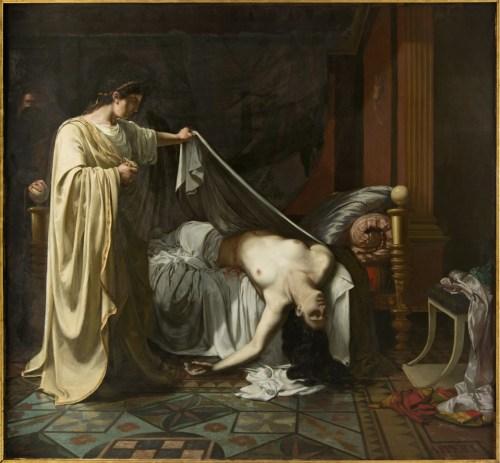 Eugène Appert, Nero vor der Leiche Agrippinas, 2. Viertel 19. Jahrhundert, Öl auf Leinwand © Musée Ingres, Montauban.