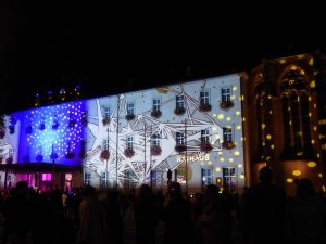 Lichterspiel am Rathaus, Foto: Marie Baum - 5VIER