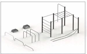 Modell des künftigen Geräteparks am Mattheiser Weiher, Foto: Florian Biewer.