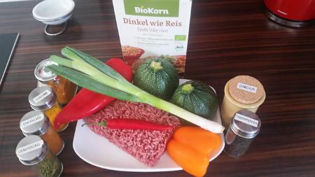 gefülltes Gemüse - Zutaten