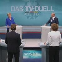 TV Duelle zwischen Angela Merkel und Martin Schulz