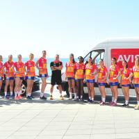 Die Frauen-Handballnationalmannschaft aus Spanien