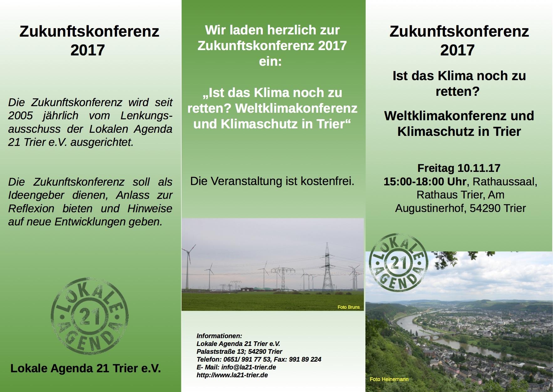 Zukunftskonferenz zum Klimawandel in Trier