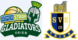 Logos Gladiators Eintracht Trier - 5VIER