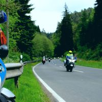 Motorradkolonne