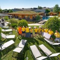 Das Bild zeigt ne neuen SWT BAD Saunagarten und das Team - Foto: 5VIER.de
