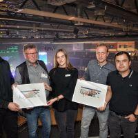 Auf dem Foto (von links nach rechts): Kai Jorzyk (Popp Concerts), Wolfgang Esser (Geschäftsführer MVG Trier mbH), Kristin Schon (Projektleitung MVG Trier mbH), Arnd Landwehr (Geschäftsführer MVG Trier mbH), Oliver Thome (Geschäftsführer Popp Concerts)  - 5VIER