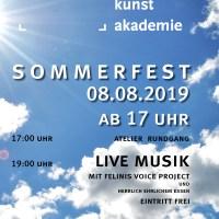 Plakat Sommerfest Europäische Kunst Akademie Bild: Europäische Kunst Akademie e.V. - 5VIER