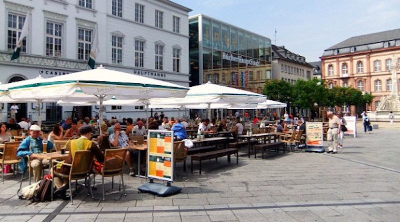 Der gut gefüllte Kornmarkt. Foto: Anna Jank