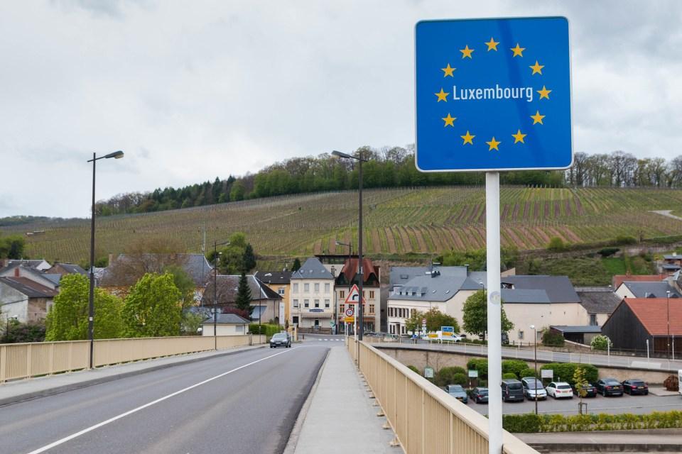 luxemburgische Grenze Grenzöffnung Grenzschließung