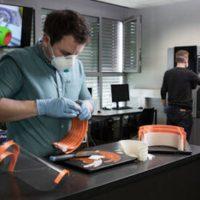 Hochschule Trier unterstützt das Trierer Klinikum Mutterhaus mit Gesichtsschutz für die Intensivmedizin - Foto: Moritz Leg / 5vier.de